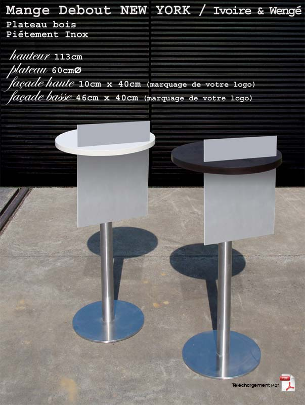 Fabrication mobilier v nementiel location mange debout for Location mange debout paris