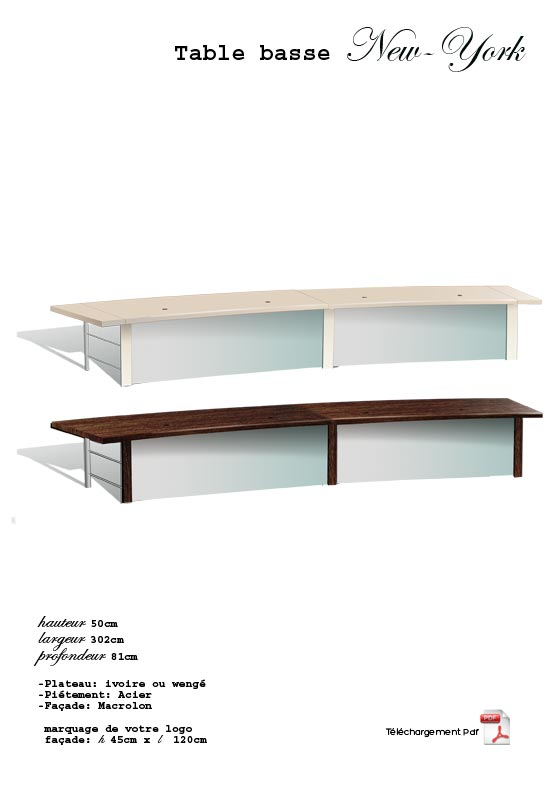 Location de mobilier sc nique les tables basses - Table basse new york ...